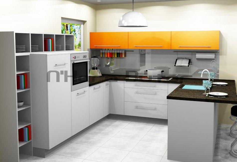 U-alakú modern konyhabútor. Konyhabútor ára: 800 700 Ft. - N'Kara Bútor